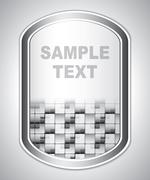 Abstract gray universal label Stock Illustration
