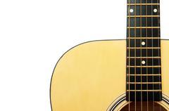 Acoustic guitar detail - stock photo