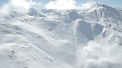 Clouds Mountains Peaks Aspen Colorado Stock Footage