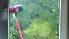 Domestic pressure brush 2 Stock Footage