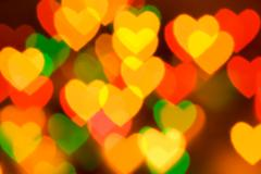 abstract blurred background (natural heart shaped bokeh) - stock photo