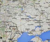 Ukraine map Stock Illustration