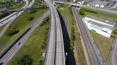 Aerial Golden Glades highway 3 Stock Footage