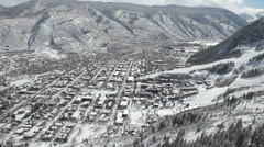 Aspen Snow Town Mountains Stock Footage