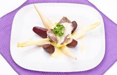 Beef with horseradish sauce Stock Photos