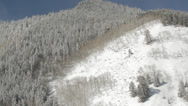 Stock Video Footage of Aspen Snowy Peaks Trees