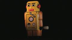 Rotating yellow Robot toy, Closeup Stock Footage