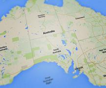 Australia map Stock Illustration
