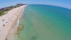 Aerial Lauderdale by the Sea fisheye Stock Footage