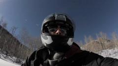 Aspen Snow Colorado Snowmobiles Stock Footage