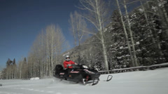 Aspen Snow Colorado Snowmobiles Stock Footage