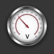 Voltmeter - stock illustration