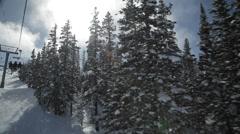 Ski Hill Snowmass Aspen Stock Footage