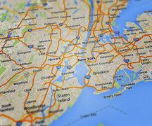 new york map - stock illustration