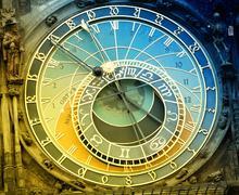 Orloj astronomical clock in Prague in Czech Republic Stock Photos