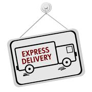 express delivery sign - stock illustration
