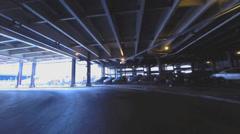 Chicago underground street 2 Stock Footage