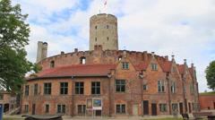 Wisloujscie Fortress, Gdansk, Poland 4 Stock Footage