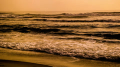 A person swim in the sea with lots of waves Stock Footage