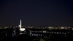 WS T/L Washington Mall illuminated at night/ Washington D.C, USA Stock Footage