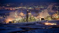 WS T/L Cityscape illuminated from dusk to dawn/ Salt Lake City, Utah, USA Stock Footage
