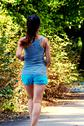 Stock Photo of Female jogger in park