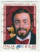 Luciano Pavarotti, famous tenor Stock Photos