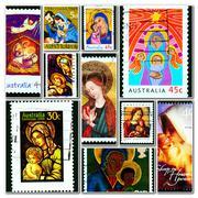Madonna with Jesus child - stock photo