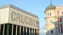 Crucible theatre, sheffield, england Stock Footage