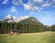 Alpin landscape with summer colors Stock Photos