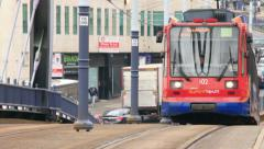 Tram, sheffield, yorkshire, england Stock Footage