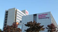 Sheffield hallam university building, england Stock Footage