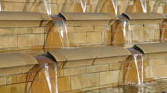 Sheffield sheaf square fountains, england Stock Footage