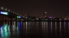 Time Lapse of Queensway Bridge in Long Beach Stock Footage