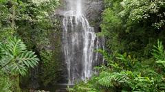 Hawaii Wailua Falls Hana Maui 6 - stock footage