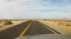 Driving Historic Route 66 In Mojave Desert Near Barstow CA Stock Footage