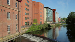 Riverside exchange, business district, river don, sheffield, england Stock Footage