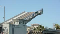 Drawbridge on the Florida coastline - stock footage