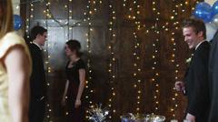MS Students drinking punch on prom night / Cedar Hills, Utah, USA Stock Footage