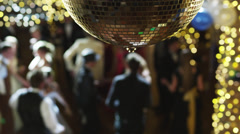 MS CS R/F Couples dancing on prom night under disco ball / Cedar Hills, Utah, Stock Footage