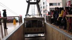 Chongqing Changjiang cableway at daytime Stock Footage