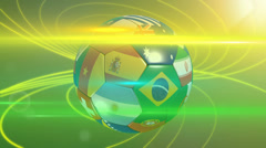 World cup football nations. Stock Footage