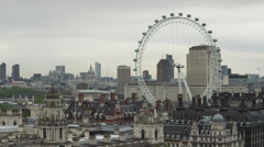 WS HA View of London with London Eye / UK Stock Footage