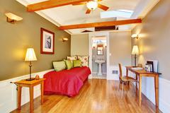 detached guest house vacation rental cottage. - stock photo