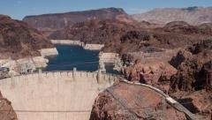 Hoover Dam bypass to water shot 4k Stock Footage