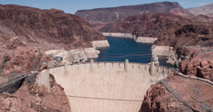 Hoover Dam wide angle view 4k Stock Footage