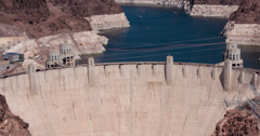 Traffic going over Hoover Dam 4k Stock Footage