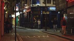 WS katu liikenne yöllä / London, UK Arkistovideo