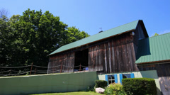 Barn_Farm Exterior Summer Day Stock Footage