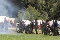 Stock Photo of civil war reenactment